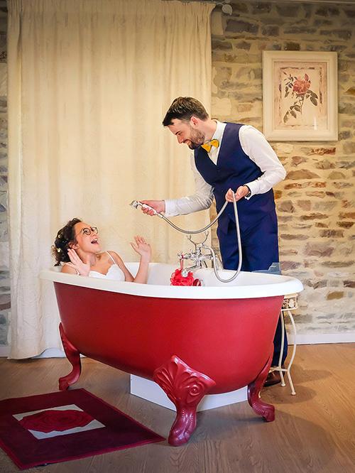 photo de mariage humoristique